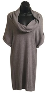 BCBGeneration short dress Heather grey Dolman Sleeves Sweater on Tradesy