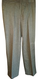 Banana Republic Wool Tie Belt 4 Wide Leg Pants Gray