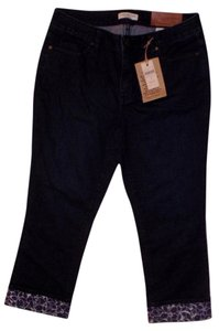 Coldwater Creek Crop Capri/Cropped Denim-Dark Rinse