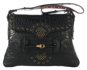 Gucci Beaded Alligator Horse Bit Cabochons Gc.j0804.08 Shoulder Bag
