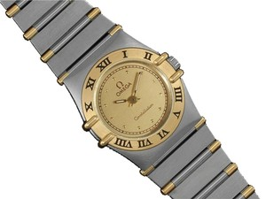 Omega Omega Ladies Constellation Mini 22mm Watch - Stainless Steel & 18K Gold
