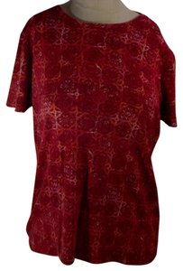 St. John T Shirt Pattern Reds & Golds