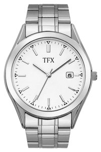 Bulova TFX by Bulova Men's Silver Watch With White Round Dial