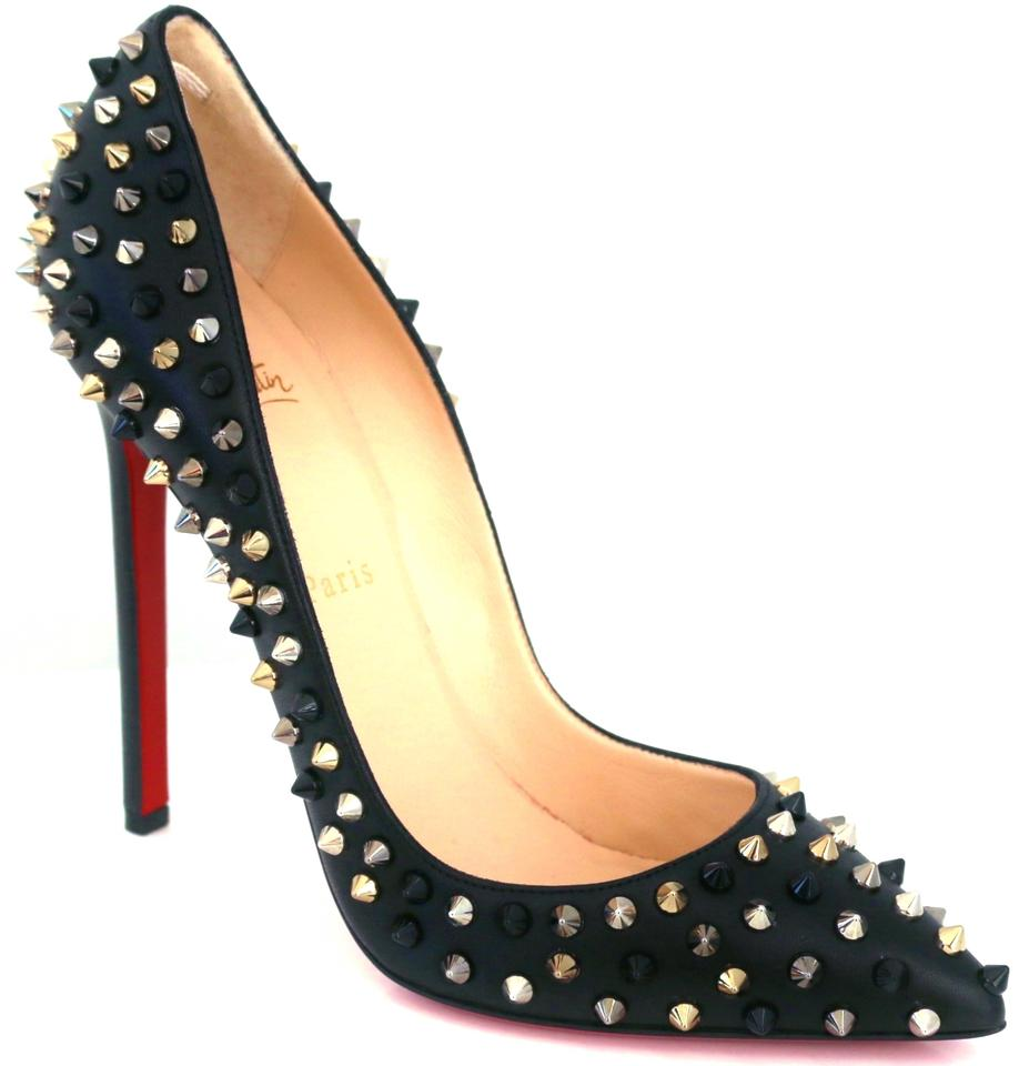 107d05346bf Christian Louboutin Black New Pigalle Spike 120 Mm Spiked 38.5 Pumps Size  US 8.5 34% off retail