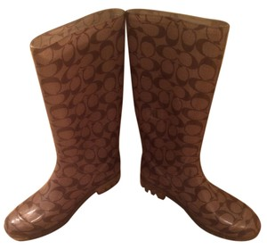 Coach Rainboot Brown tan Boots