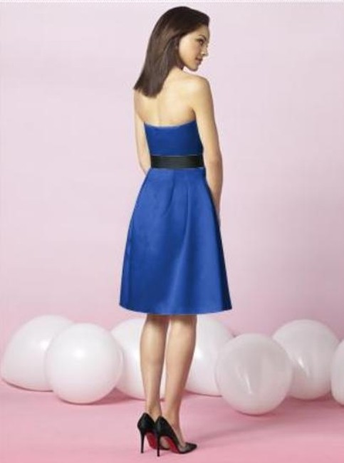 After Six Length Strapless Satin Dress