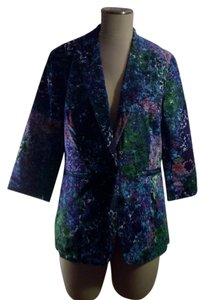 Coldwater Creek Blue Floral Blazer