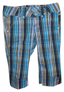 Candie's Plaid Multi Cropped Crop Capris Multi Plaid