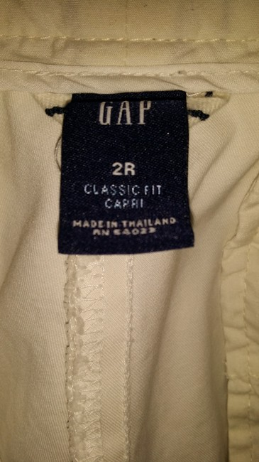 GAP Cropped Crop 2 Capris White