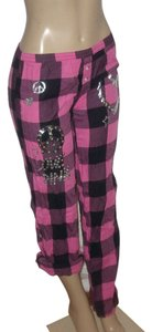 Victoria's Secret Relaxed Pants Pink/Black