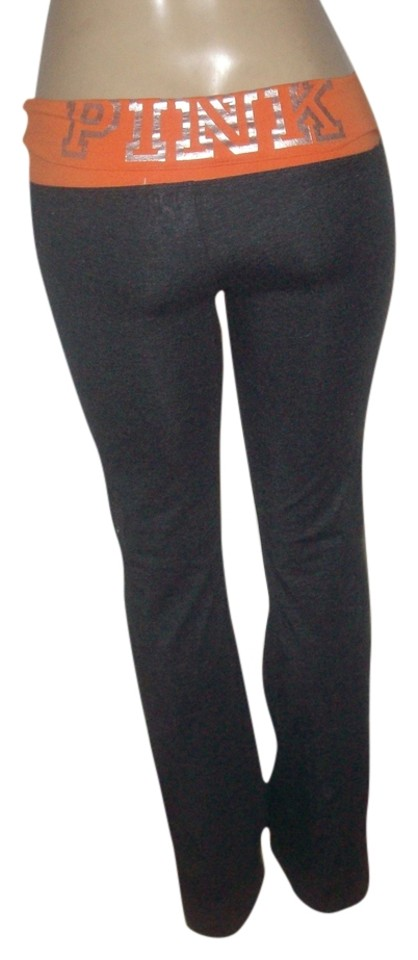 2e4a505ea909ec Victoria's Secret Charcoal Pink Brand Stretch Foldover Waist Collegiate  Lounge S Pants