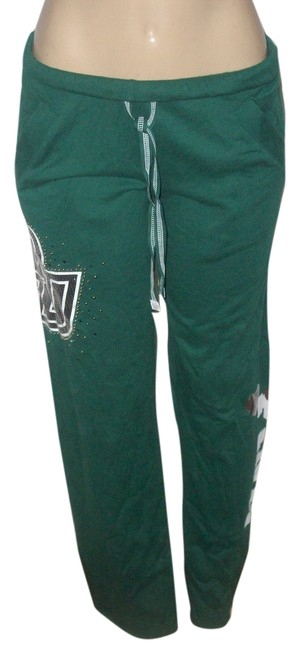 Item - Green XS Pink Brand Collegiate Bu Sequin Graphic Lounge Pants Size 2 (XS, 26)