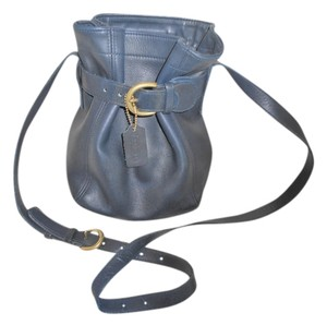 Coach Shoulder Hobo Tote in Navy Blue