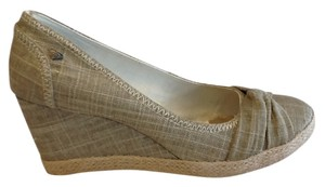 Roxy Linen Wedges