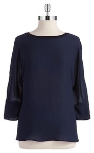 T Tahari Top Navy