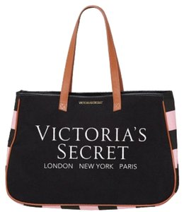 Victoria's Secret Tote in Black, Brown, Pink
