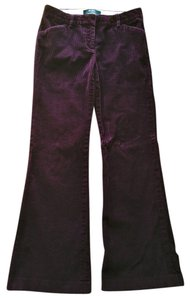 Victoria's Secret Corduroy Cord Tab Front Boot Cut Pants Purple