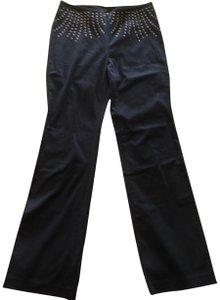 Express Stretchy Studded Straight Pants Black