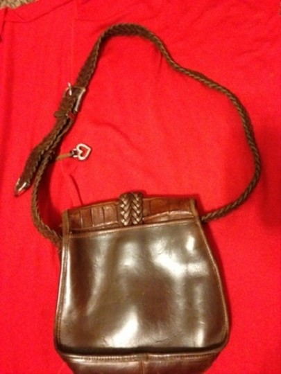 Brighton Leather Handbag Silver Cross Body Bag