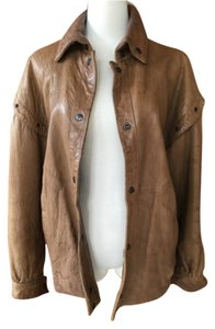NIKA Brown Leather Jacket