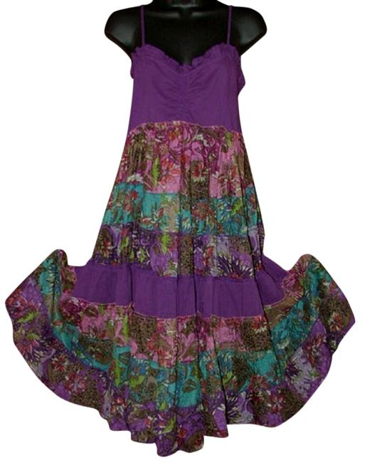 Preload https://img-static.tradesy.com/item/792223/purple-and-floral-boho-bohemian-tiered-pieced-sundress-knee-length-short-casual-dress-size-8-m-0-0-650-650.jpg