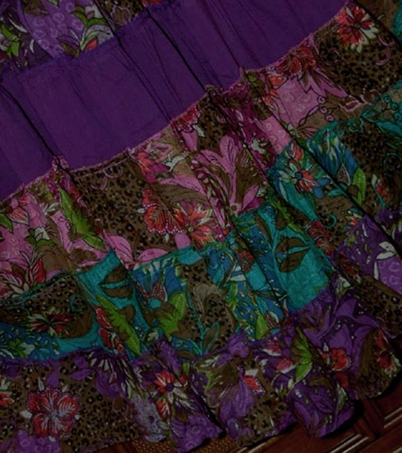 Independent Design short dress Purple and Floral Boho Bohemian Tiered Pieced Sundress on Tradesy Image 1