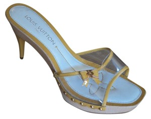 Louis Vuitton Limited Edition yellow Mules