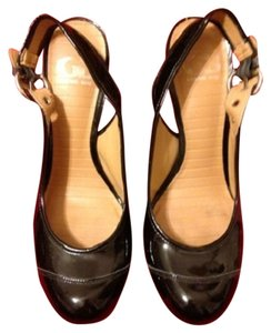 Gianni Bini Patent Heel Black Patent Pumps