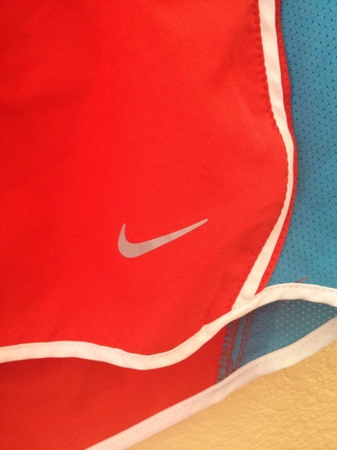 Nike bright red and teal Shorts