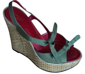 Dolce&Gabbana Fashion Wedges Style Wicker green Platforms