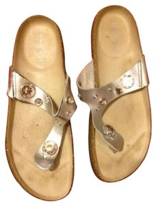 Nine West Thong Silver Sandals