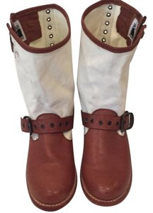 Frye Brown and cream Boots
