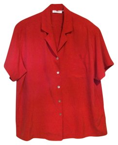 Anne Fontaine Button Down Shirt red