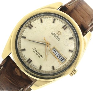 Omega Vintage 1970 Omega Seamaster Cosmic CD 198.001 Gold Stainless Day-Date Watch