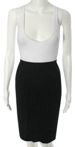 Max Mara Wool Skirt Black Pin Stripe