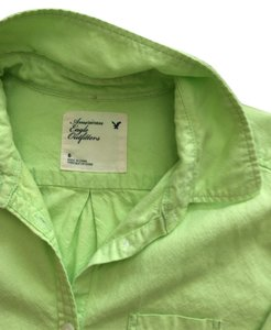 American Eagle Outfitters Button Down Shirt Lime green