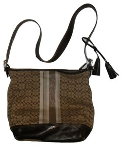Coach Logo Hobo Shoulder Bag