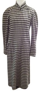 Kenzo Cashmere Blend Wool Blend Vintage Classic Chic Warm Career Dress