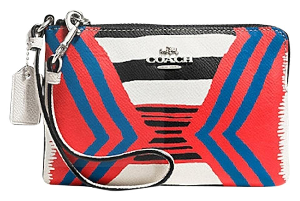 promo code 8bb8e 772d0 Coach Corner Zip New In Packaging In Printed Crossgrain Multi Wallet Phone  Case 52926 Multi-colored Textured Embossed Leather Wristlet 20% off retail