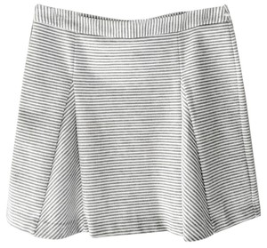 Michael Kors Mini Striped Mini Skirt Gray White