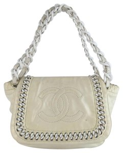 Chanel Patent Leather Luxe Ligne Handbag Shoulder Bag