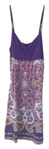 Target short dress white purple Su Summer on Tradesy