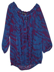 Express Top Blue and Magenta