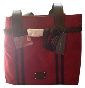 Tommy Hilfiger Tote in Red With Blue Stripes