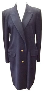 Valentino Silk Chic Vintage Executive Trench Coat