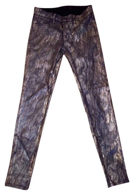 Item - Black and Gold Skinny Jeans Size 27 (4, S)