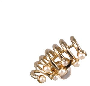 Dior DIOR Gold Pearl Ear Clip On Cuff Earring