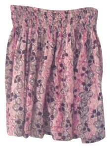 Anthropologie Floral Skirt maroon