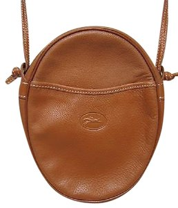 Longchamp Camel Leather Handbag Cross Body Bag