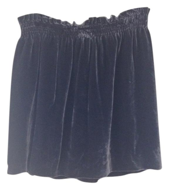 J.Crew Velv Velvet Skirt Black Gray